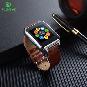 Smart Watch With Leather Wristband for Iphone/Android