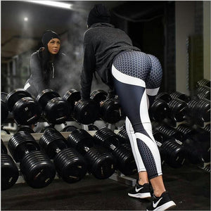 Mesh Pattern Fitness Leggings
