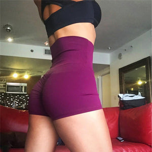 Woman's Workout Scrunch shorts Pleated Fold Push up Hips High Waist Sports Fitness Panties for women Excise Female Yoga  Trunks