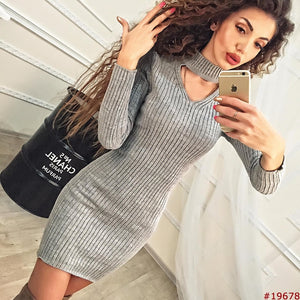 Long Sleeve Bodycon Casual Dress