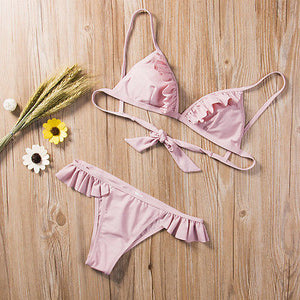 Free Lotus Leaf Bikini Set