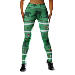 Christmas Green Deer Leggings