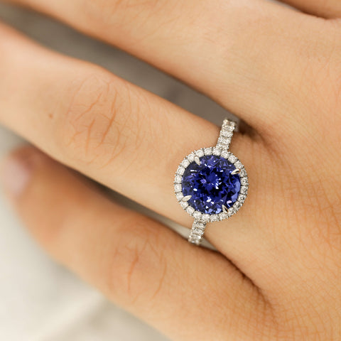 Sapphire and diamond engagement ring inspiration