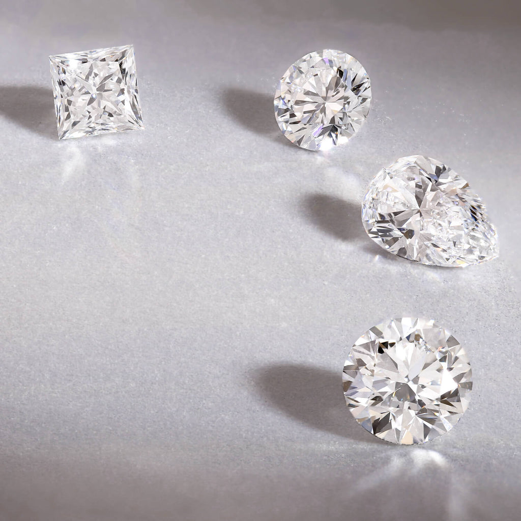 Loose GIA diamonds ready to be set in a bespoke engagement ring
