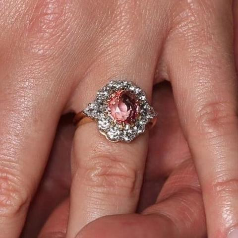 Princess Eugenies Padparadscha sapphire engagement ring