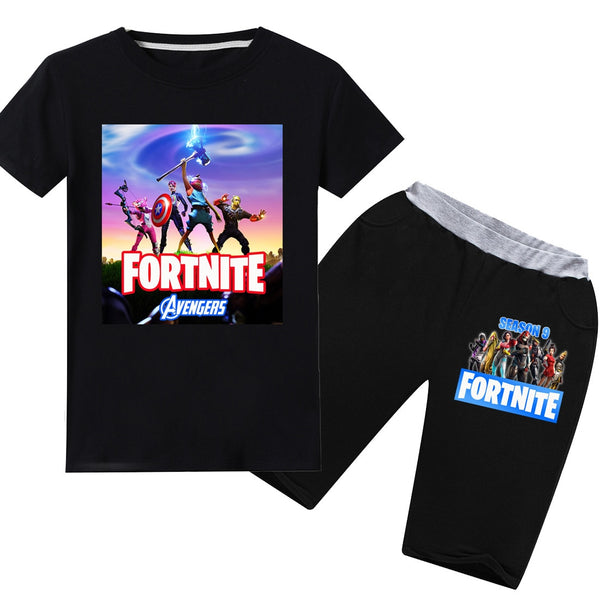 Fortnite, tskjorte og shorts
