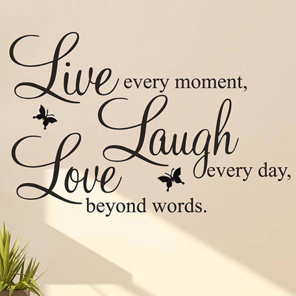 Veggdekor veggord, LIVE LAUGH LOVE