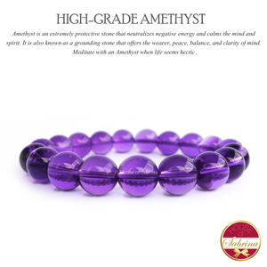 High-Grade Amethyst Gemstone Bracelet