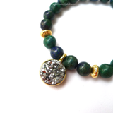 Chrysocolla x Druzy Power Gemstone Bracelet