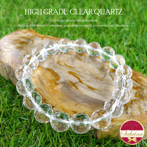 High Grade Faceted Clear Quartz