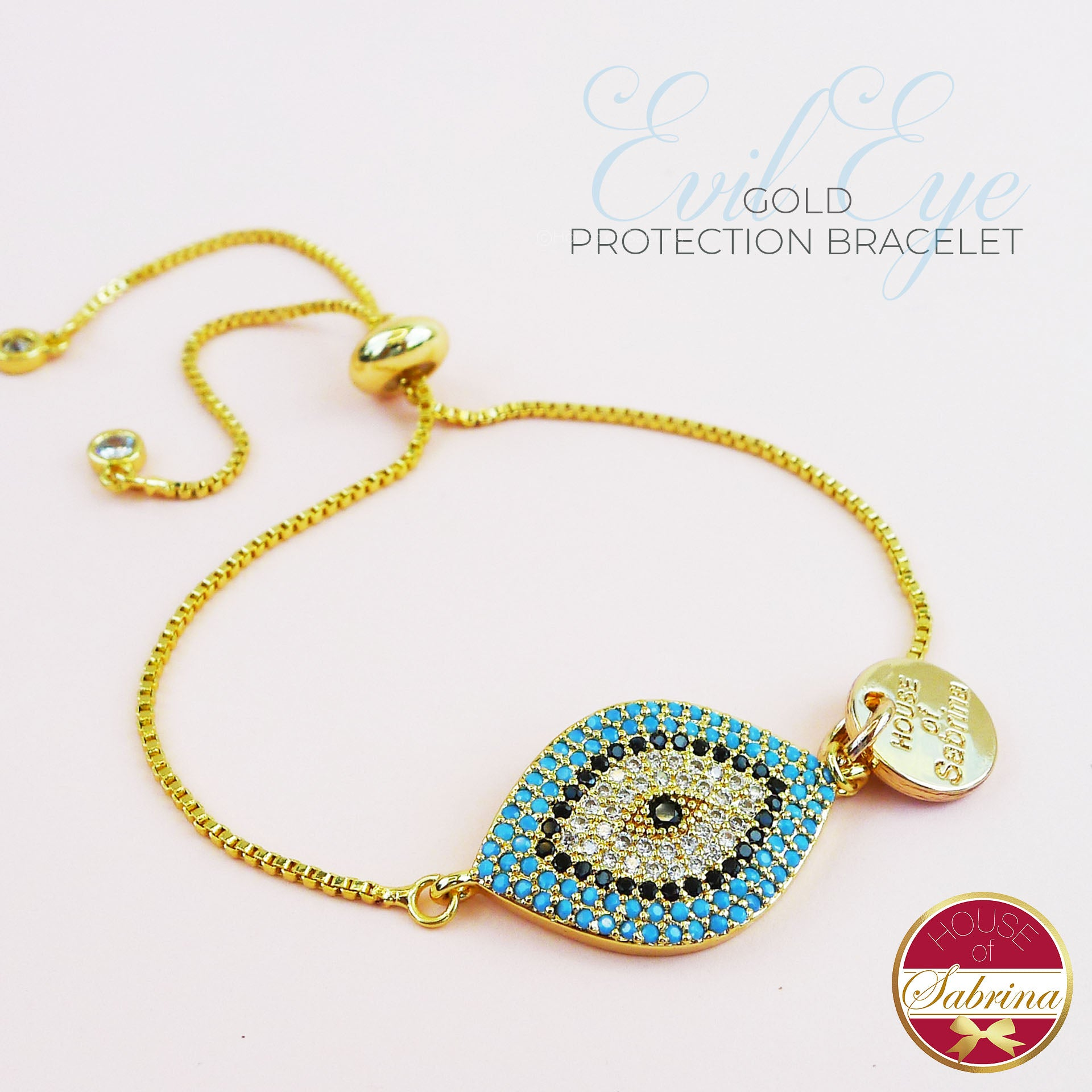 GOLD EVIL EYE PROTECTION BRACELET