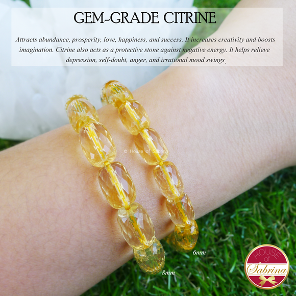 Gem Grade Faceted Citrine (6mm)