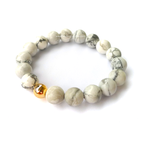 Howlite Power Gemstone Bracelet