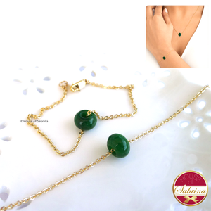 Dainty Jadeite Eternity Set