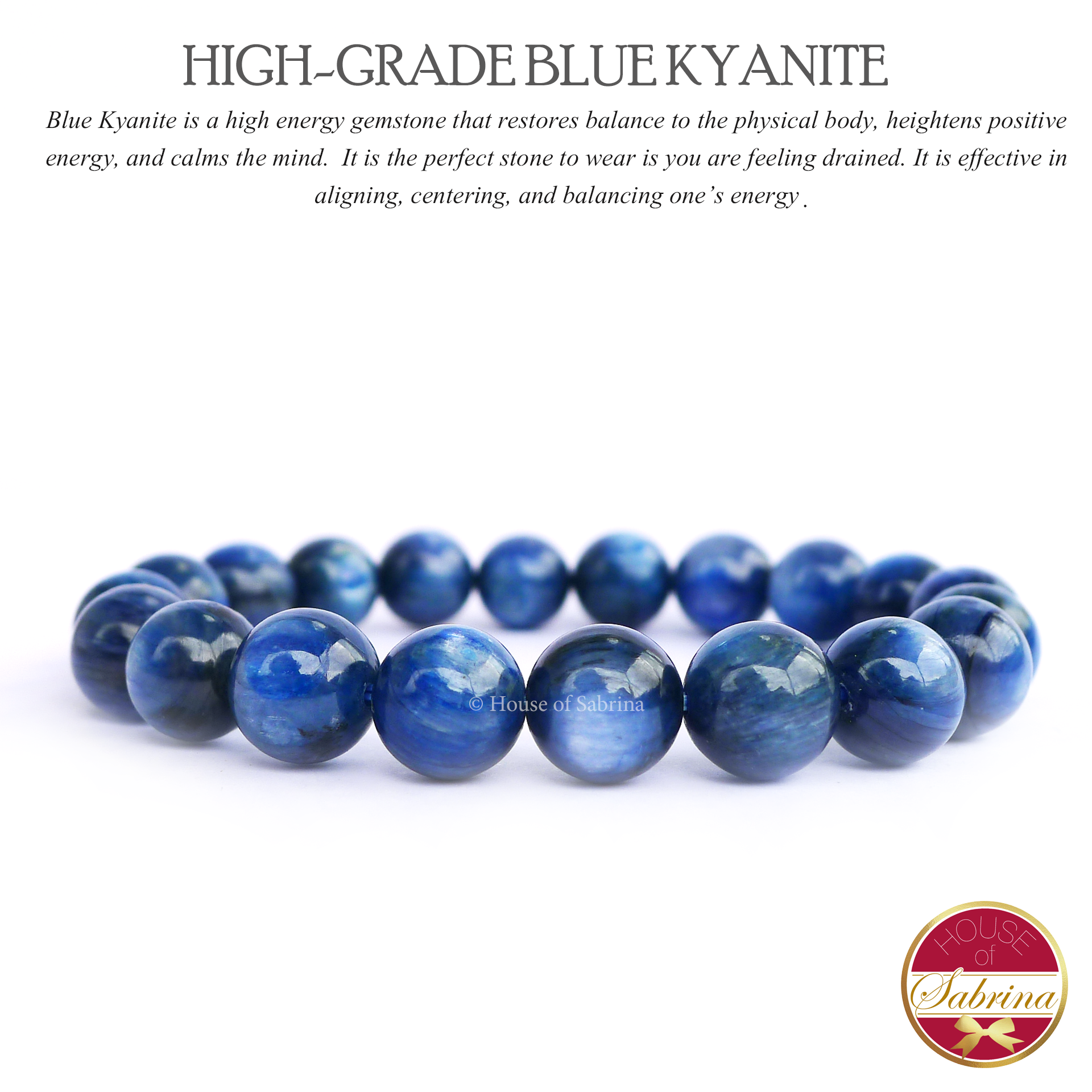High Grade Blue Kyanite Power Gemstone Bracelet