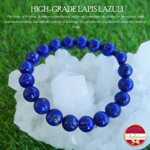 High-Grade Lapis Lazuli Gemstone Bracelet (7mm)