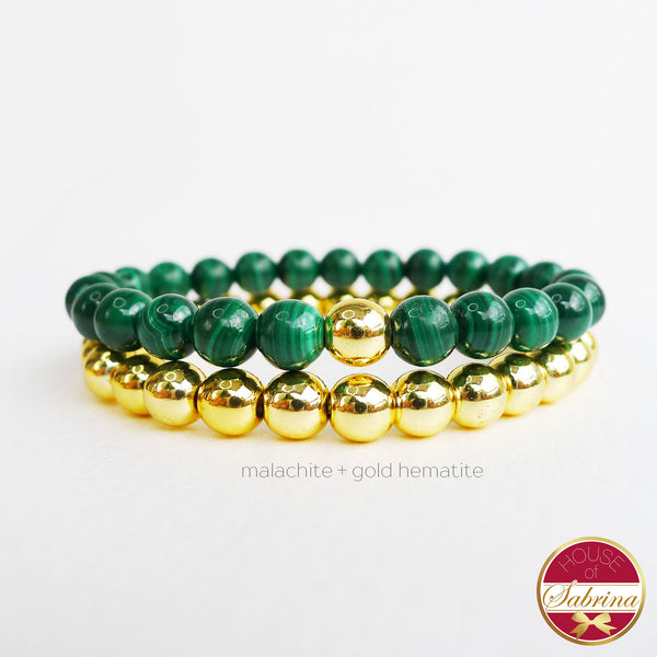 HIGH GRADE MALACHITE + GOLD HEMATITE