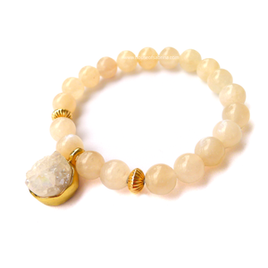 Moonstone x Druzy Power Gemstone Bracelet