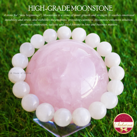 High-Grade Moonstone Gemstone Bracelet (10mm)