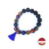 Multicolored Tiger Eye Diffuser Bracelet