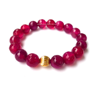Pink Agate Power Gemstone Bracelet