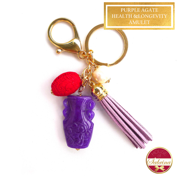 Purple Agate Health & Longevity Amulet