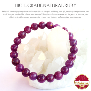 High Grade Natural Ruby Gemstone Bracelet