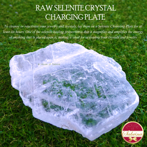 Raw Selenite Crystal Charging Plate (Small)