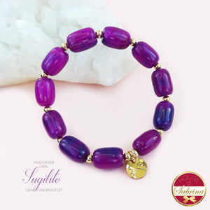 HIGH GRADE OVAL SUGILITE GEMSTONE BRACELET