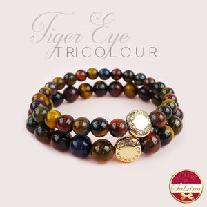 TRICOLOUR TIGER EYE GEMSTONE BRACELET