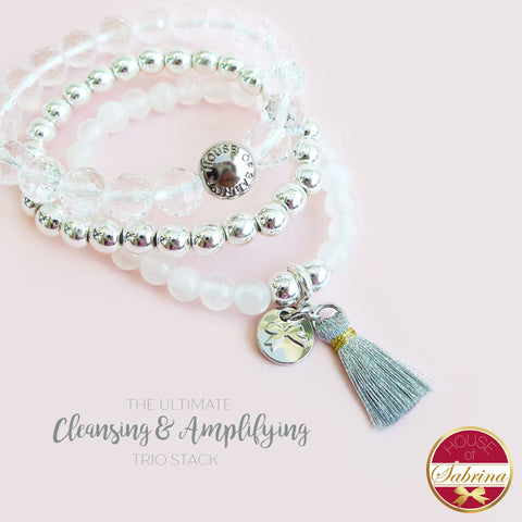 ULTIMATE CLEANSING GEMSTONE TRIO STACK BRACELET