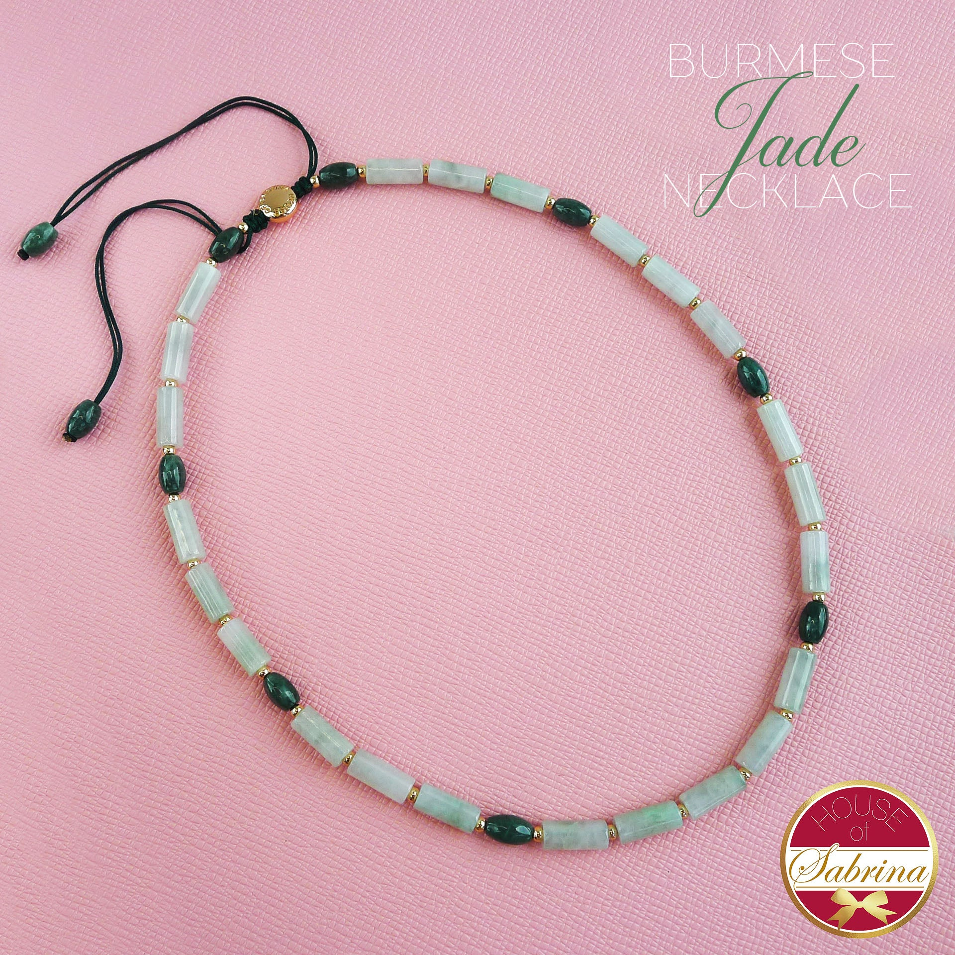 HIGH GRADE BURMESE JADE GEMSTONE NECKLACE