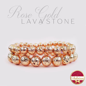 ROSE GOLD PLATED LAVA STONE