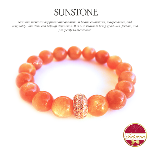 High Grade Sunstone Gemstone Bracelet