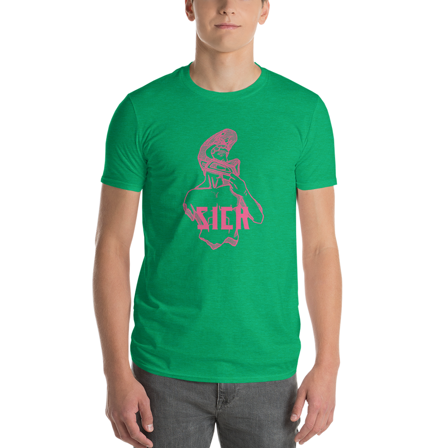Odyssey - Green/Pink Short-Sleeve T-Shirt