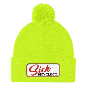 Neon Colors - Pom Pom Knit Cap - USA ONLY