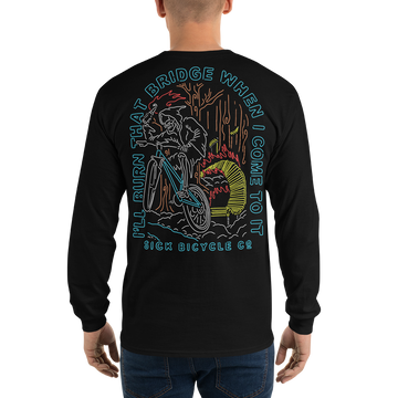 Burning Bridges Neon Long Sleeve T-Shirt