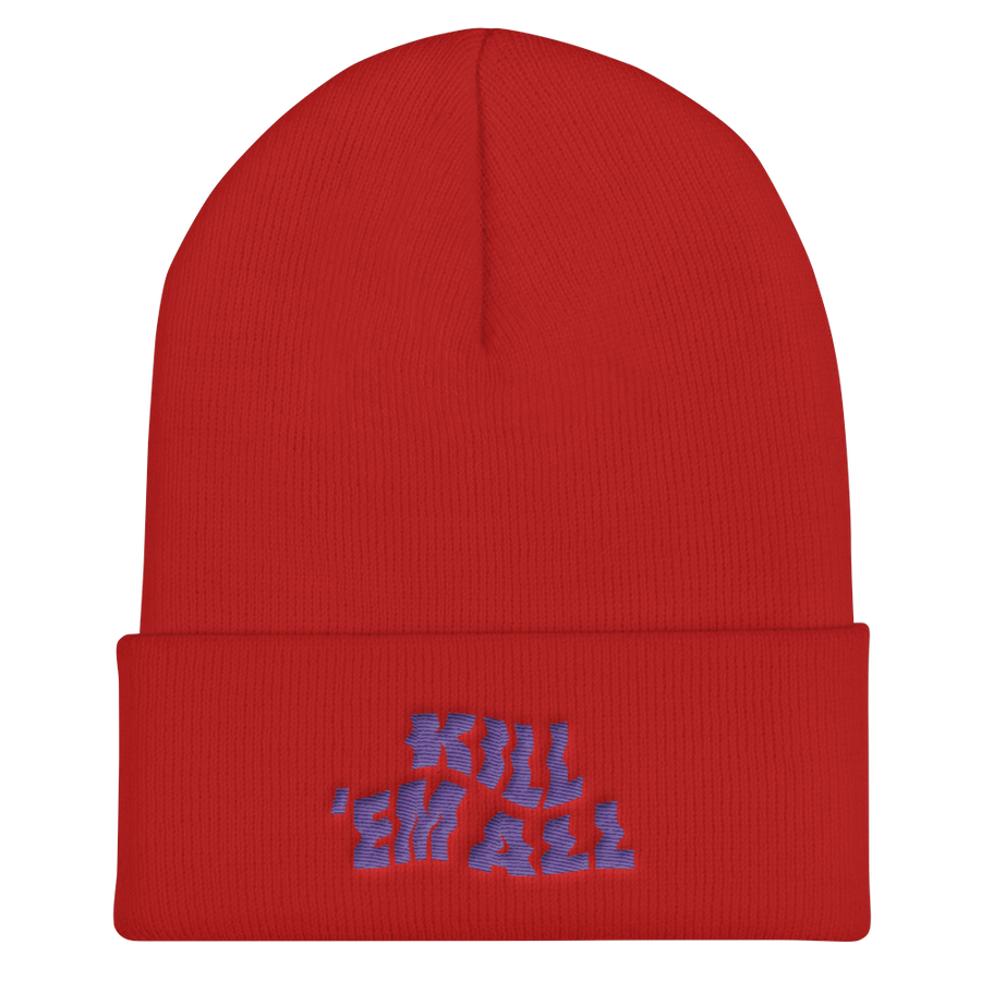 Kill Em All Cuffed Beanie