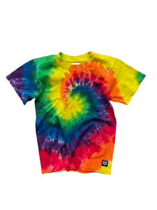 Kids (YOUTH) Rainbow Tie Dye Tee You Choose Design