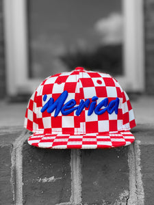 Infant/Toddler Red Checkered Merica Hat