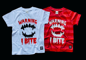 Kids WARNING I BITE Tee