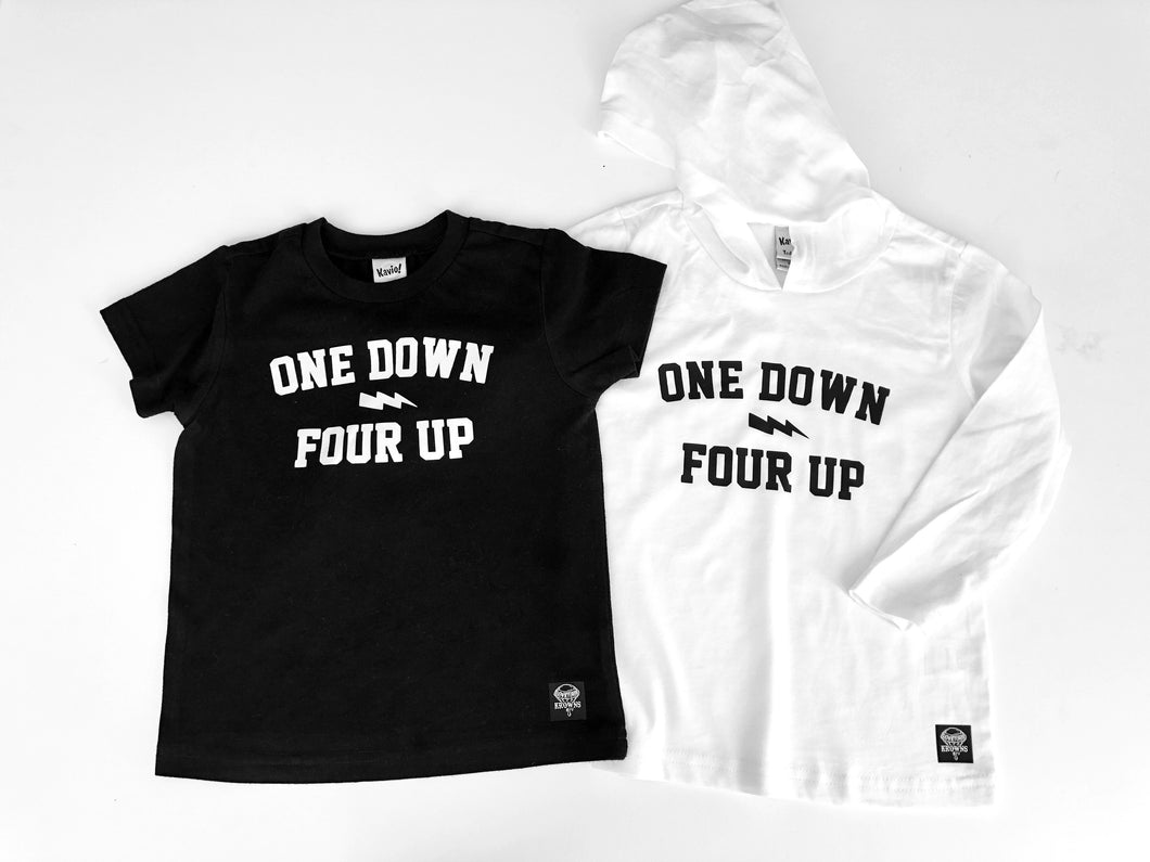 One Down Four Up tee
