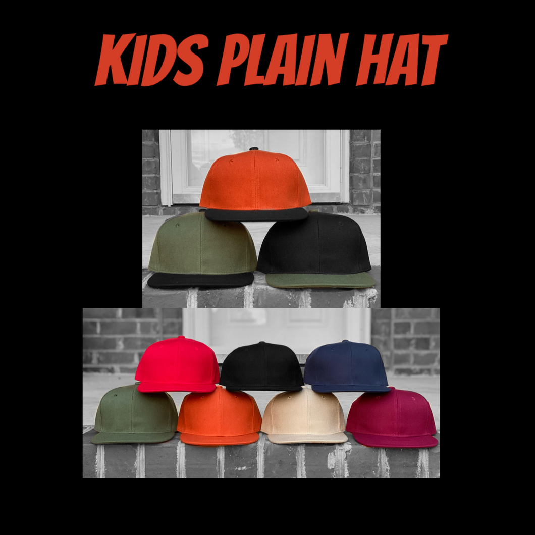 Kids Plain Hat