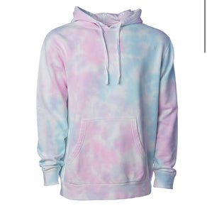 Adult Unisex Cotton Candy Tie Dye Hoodie