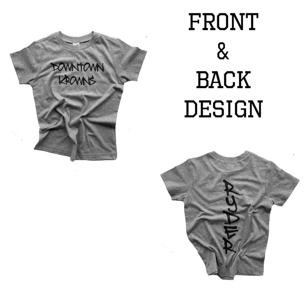Custom Back Name Tee