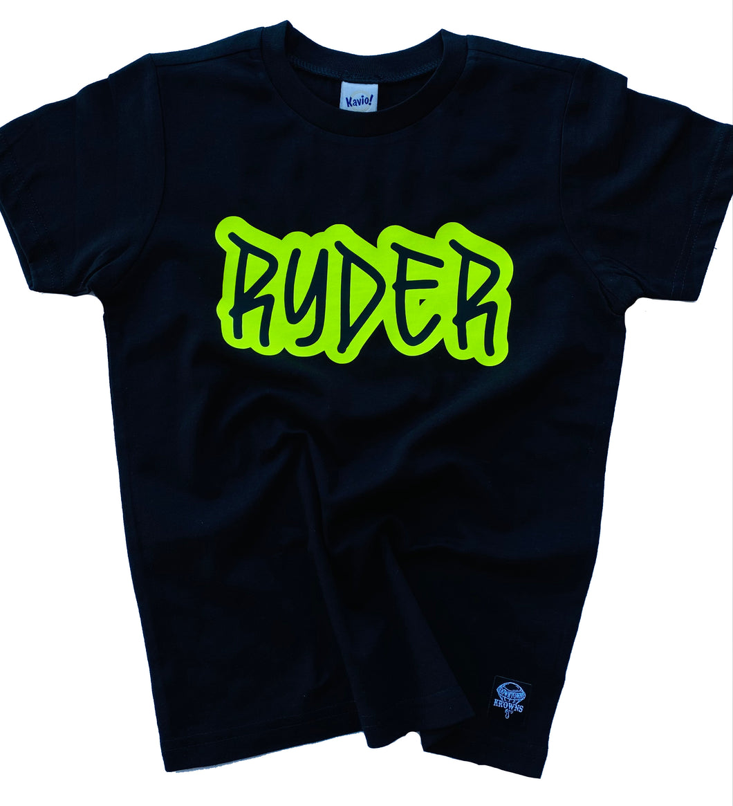 Kids Graffiti Name Tee