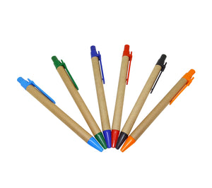 Recycle Pen with Coloured Clip