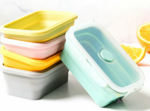 Afia Microwave Safe Collapsible Silicone Lunch Box
