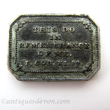 1842 Original Antique Portpatrick Church Communion Token, Scotland