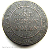 1812 Union Copper Co. Birmingham, Warwickshire England Penny Token